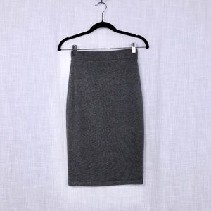 Forever 21 Grey Fitted Knit Pencil Skirt